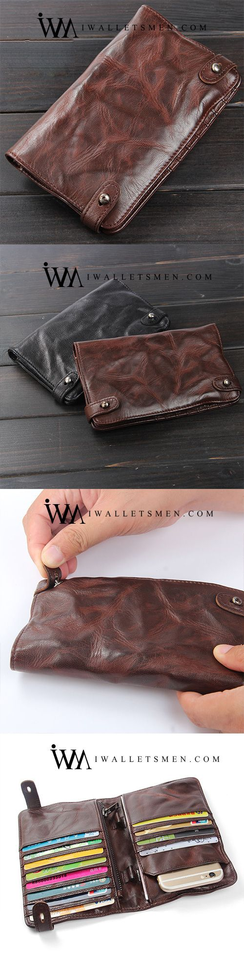 Handmade Leather Mens Cool Long Leather Wallet Bifold Clutch Wallet for Men QUICK VIEWSALE -22% HANDMADE LEATHER MENS COOL LONG LEATHER WALLET BIFOLD CLUTCH WALLET FOR MEN