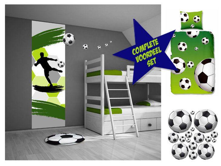 Voetbalkamer voordeelset voetbal muurstickers