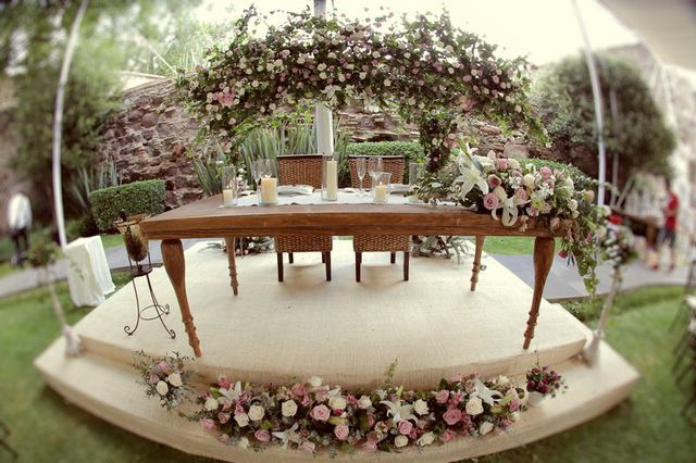 Mesa de novios boda vintage rustica boda rustica - Decoraciones bodas vintage ...