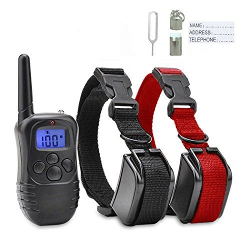 EtekStorm Dog Training Collar With Remote Rechargeable and Rainproof LCD Screen 330 Yard Beep/Vibration/Shock Electric Train Collars For Small,Medium,Large PetsandDogs(For 2 Dogs) * Check out the image by visiting the link.