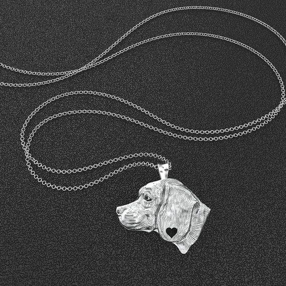 Beagle Breed Jewelry Heart Pendant