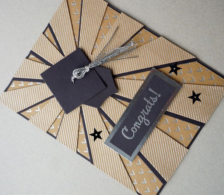 Graduation Card Using the Sunburst Thinlit from Stampin Up