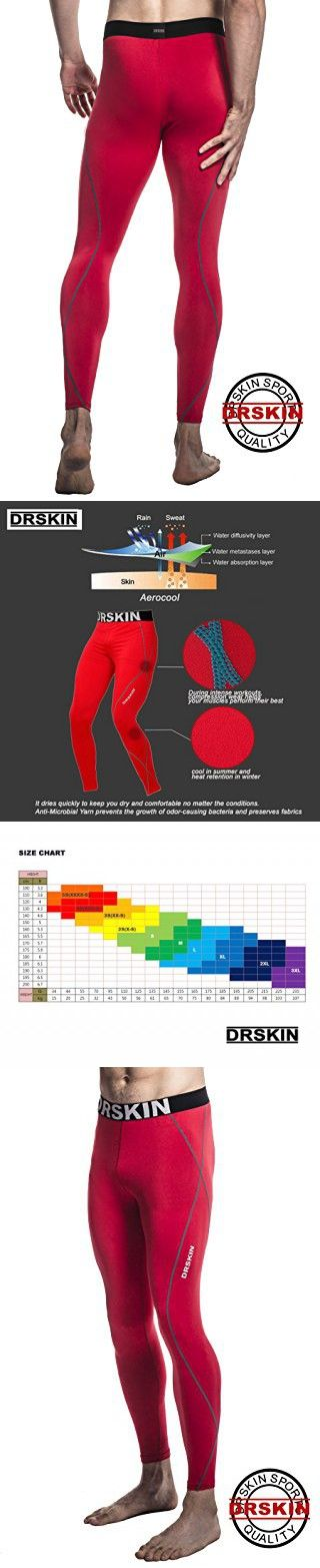 [DRSKIN] DRG167 Tight Compression Pants Base Layer Running Pants Men Women (XL)