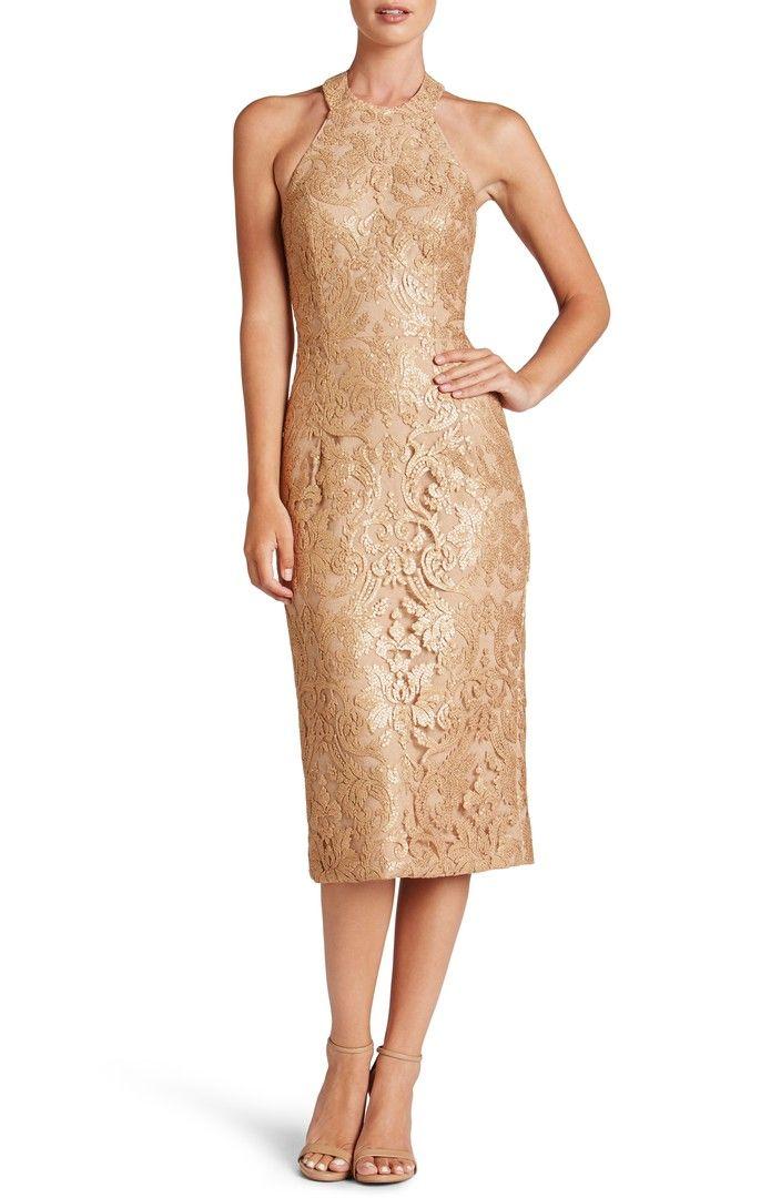 Main Image - Dress the Population Cassie Sequin Midi Dress