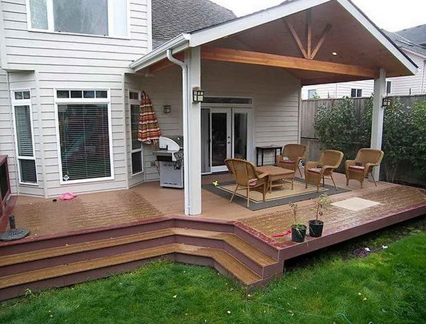 Partially Covered Deck Ideas Home Design Ideas Partially