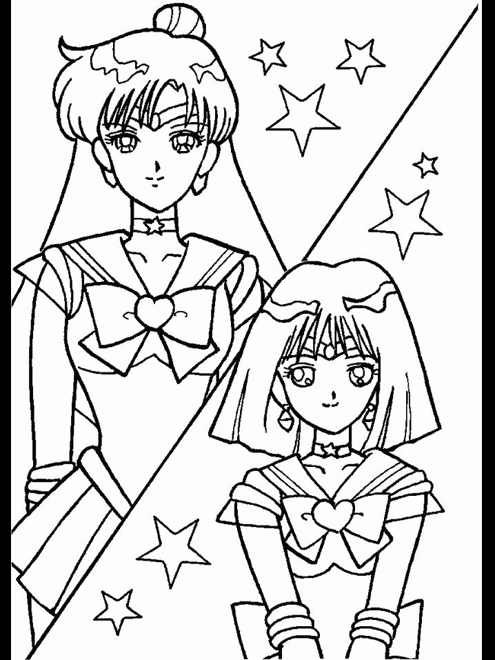 17 best images about Anime colouring pages on Pinterest  Sailor