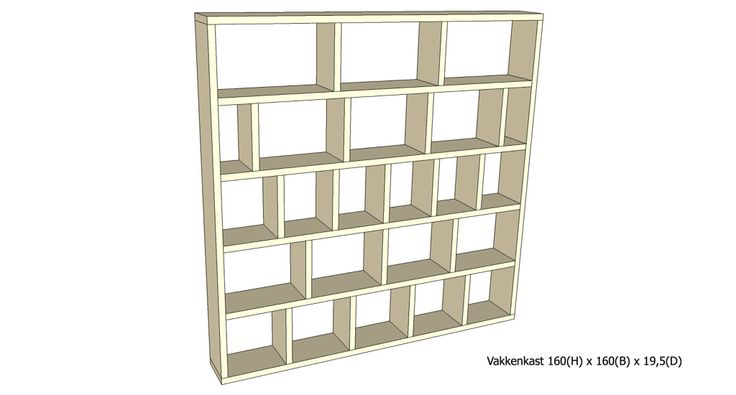 Vakkenkast 2302 (wordt gemaakt van steigerhout)