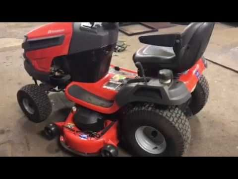 How to remove mower deck on a Husqvarna tractor - YouTube