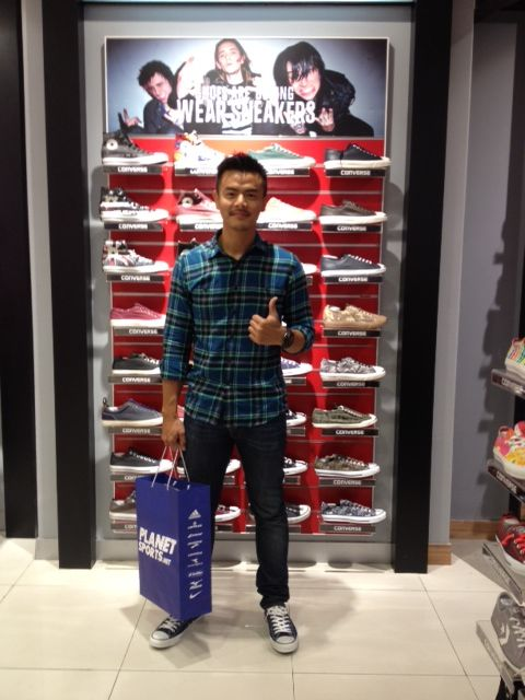 Dion Wiyoko with Converse at Planet Sports