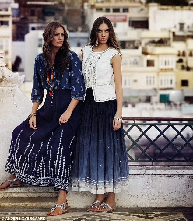 Yasmin and Amber Le Bon model for the new Monsoon 40th anniversary heritage collection in #India. As seen in @you Magazine in the @daily planet Mail #40yearsinfashion