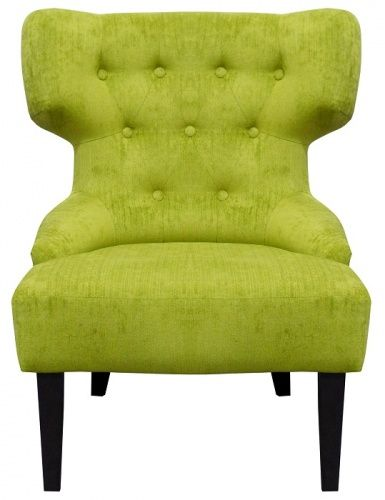The ADONIS wingback #statement #chair - finished in a #green #velvet fabric
