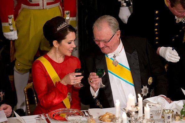 La Cour Royale Danois: La Visite d 'etat coninue avec un banquet