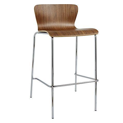 Buy John Lewis Vela Bar Chair, Walnut Online at johnlewis.com