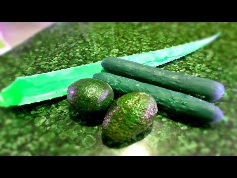 Aloe, Cucumber & Avocado Cold Processed CP Soap With Recipe - YouTube