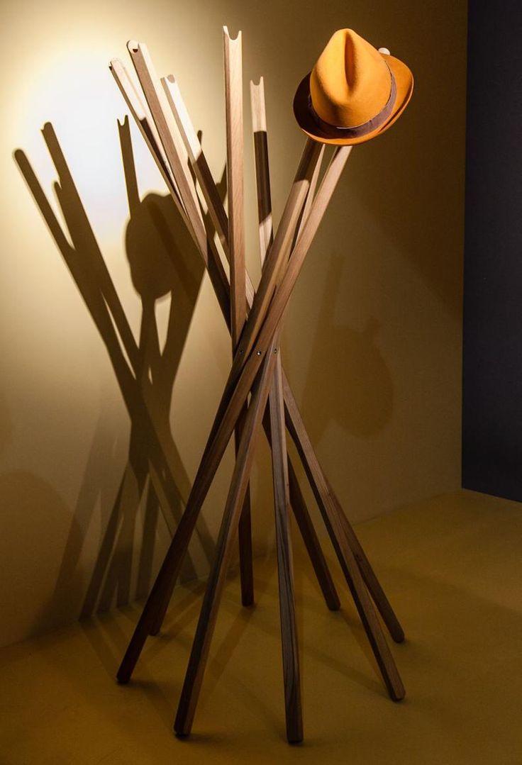 Zanotta Sciangai Floor Coat Rack   The Best Wood Furniture