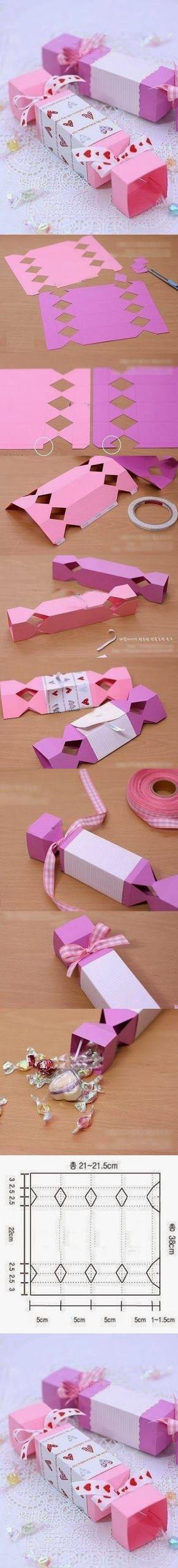 DIY : Cute Candy Gift Box   DIY & Crafts Tutorials