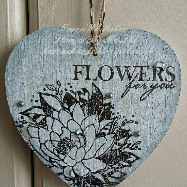Stamps By Me.  Flowers For You stamp set #stampsbyme #flowersforyou #flowers #mdf #plaque #distressinks #paint #stamping #craft #creative