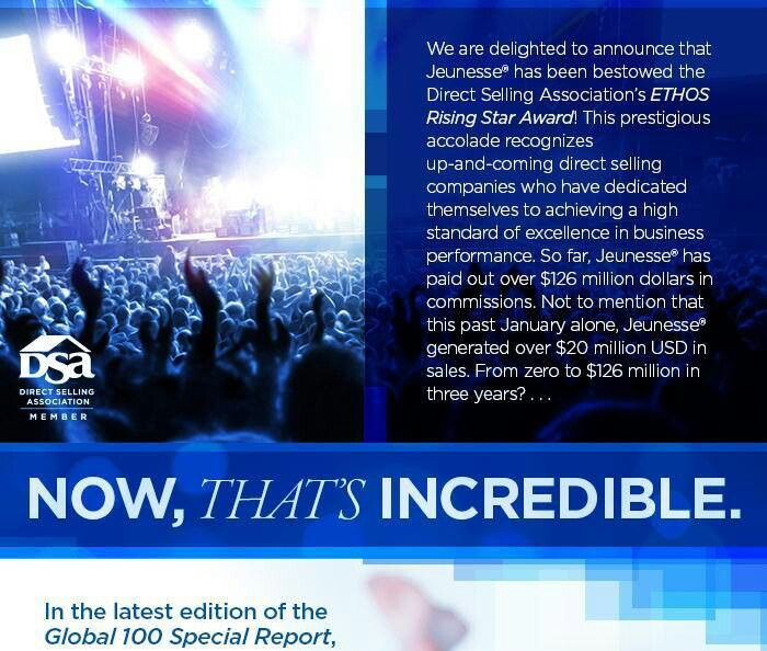 From zero to $126 million in three years, WOW...!! Incredible. Jeunesse is a global business,  want to open branch in Indonesia,market..? please visit www.biocell.jeunesseglobal.com