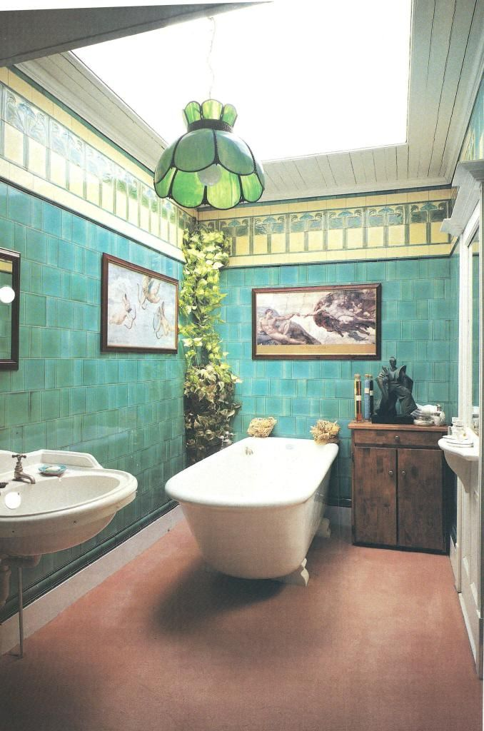 Craftsman movement william morris style arts crafts - Arts and crafts style bathroom design ...