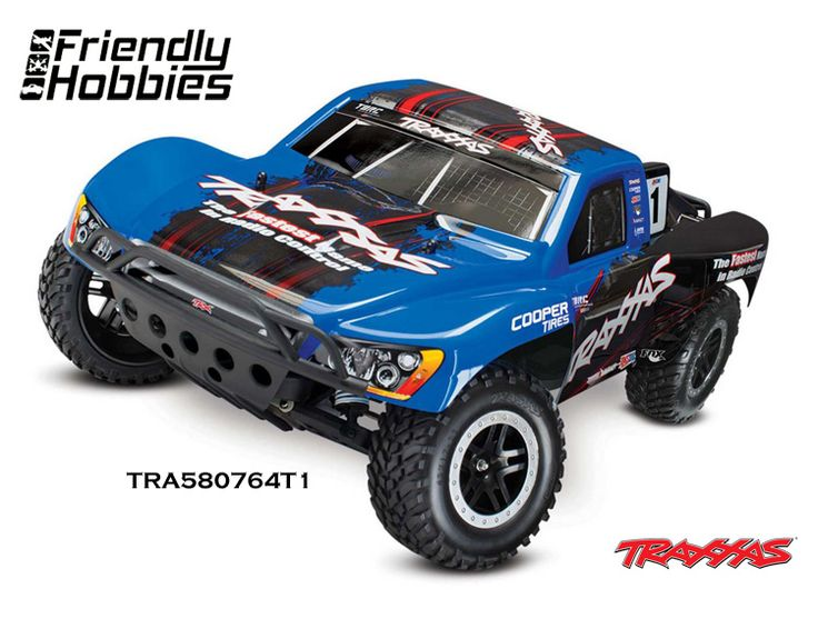 Traxxas 1/10 Slash 2WD VXL RTR with TSM, iD, TQi 2.4GHz, no On Board Audio Module, Battery, or Charger - $319.99  Blue, #25 Mark, Fox,