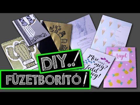 BACK TO SCHOOL FÜZETBORÍTÓ DIY - VISSZA A SULIBA 2017