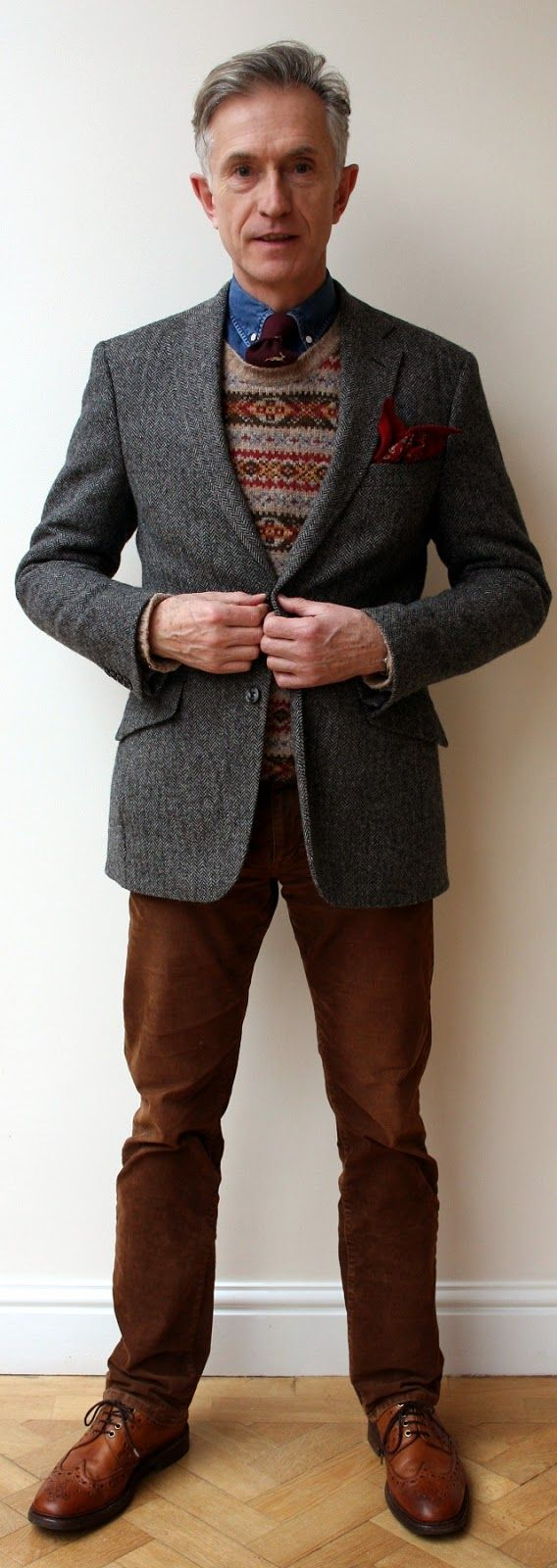 One jacket: 5 Ways to Wear It. Grey Fox: middle age style