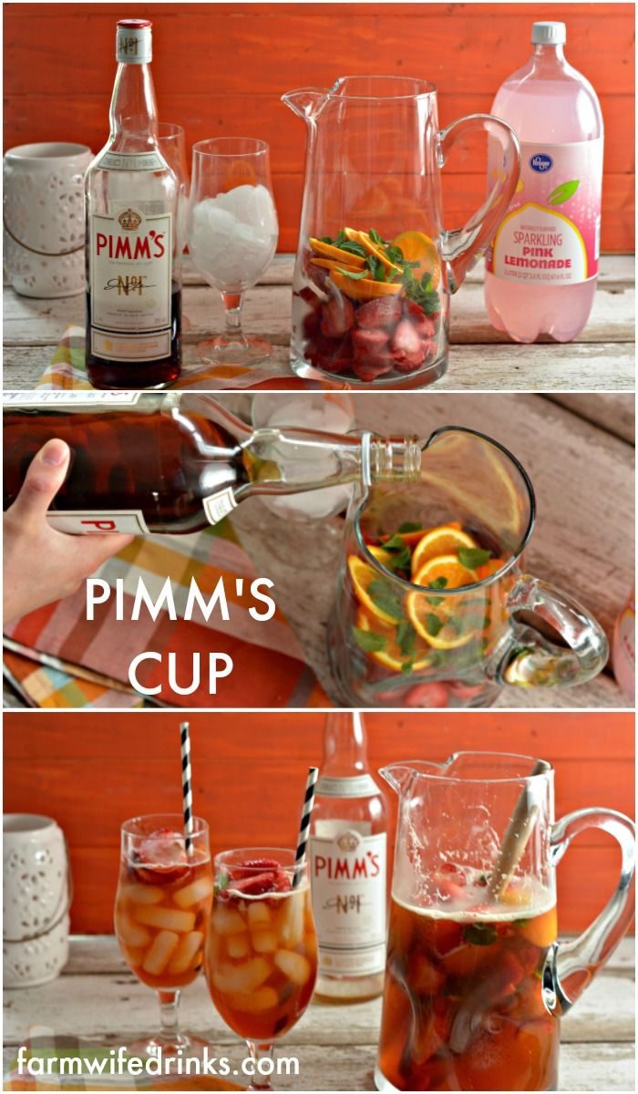 Pimm's cup is one of the most refreshing cocktails for summer. Pimm's, a liqueur from England that is an herb infused gin that when mixed with lemonade, magic happens.