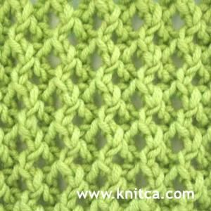 """#Knitting_Stitches - """"Lovely lace stitch that's really easy to do. Different on each side, but equally beautiful for shawls and scarves. Right side of knitting stitch pattern is shown."""" comment via #KnittingGuru"""