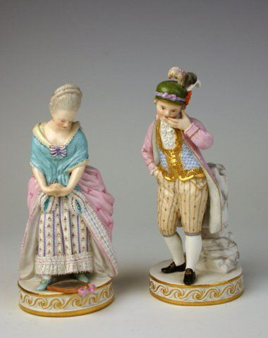A very fine pair of Meissen figures