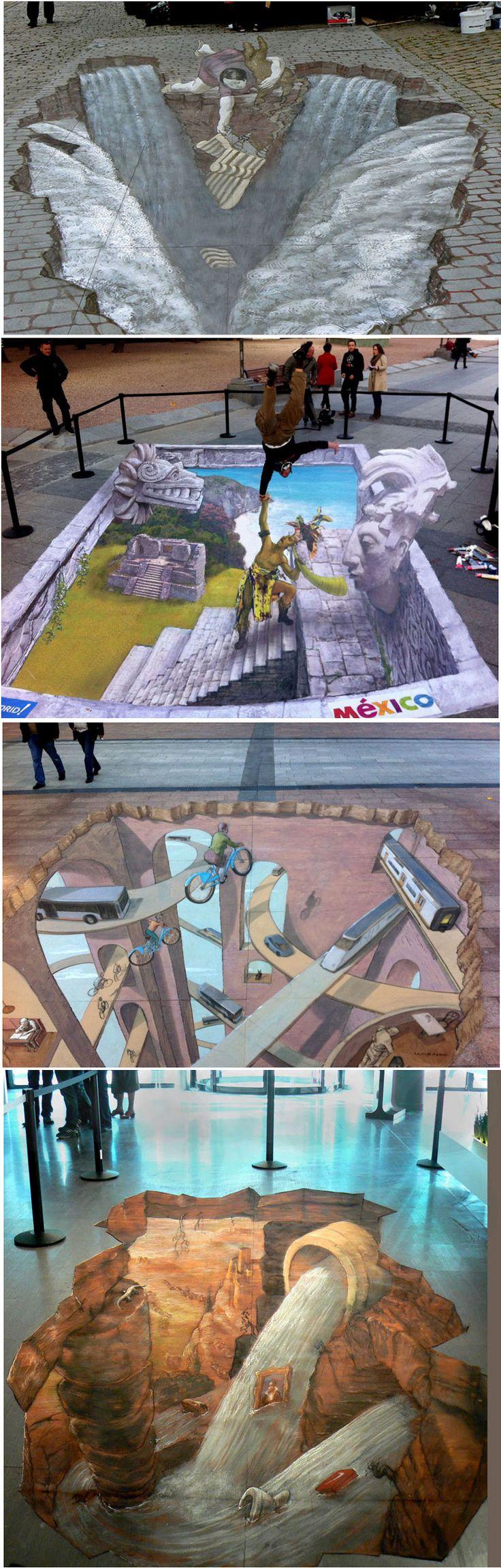 Eduardo Relero 3D pavement art