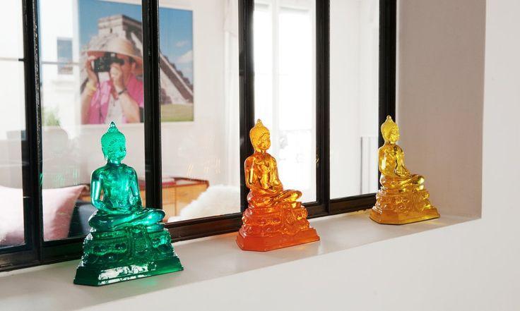 Cuisine Bouddha pop et colorés Appartement Duplex Paris Nayla Voillemot et Romain