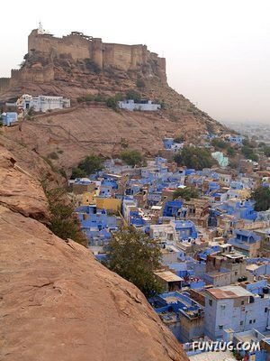 Jodhpur, Rajastan- gateway to the Thar desert. See the city and ride A camel in the Thar