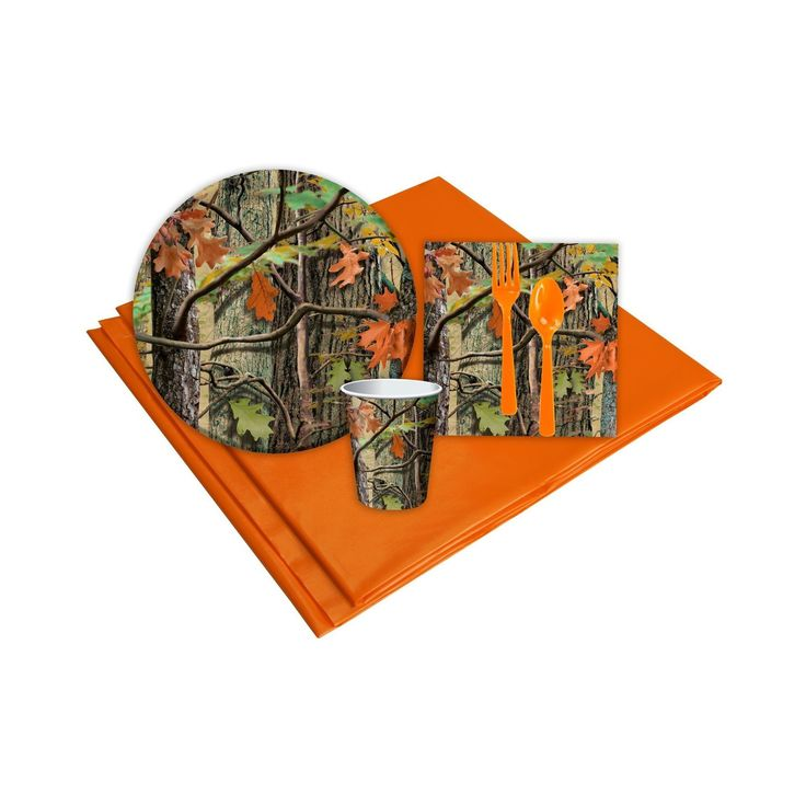 Hunting Camo 8 Guest Green Party Pack