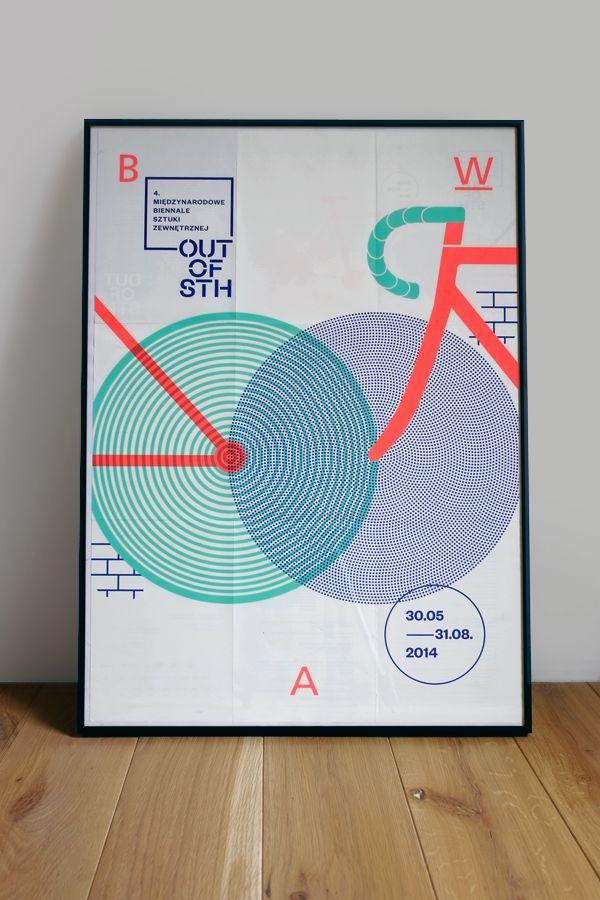 Grupa Projektor. Poster – The 4th International Biennale of Urban Art OUT OF STH. Main theme: BICYCLE.BWA Awangarda Gallery, Wrocław, Poland
