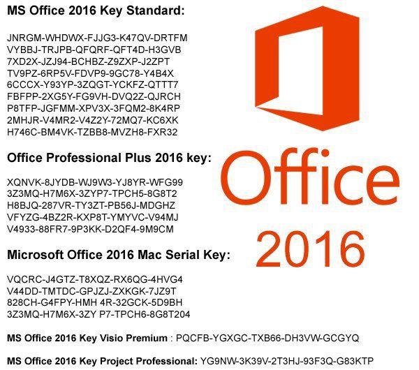microsoft office pro key 2016