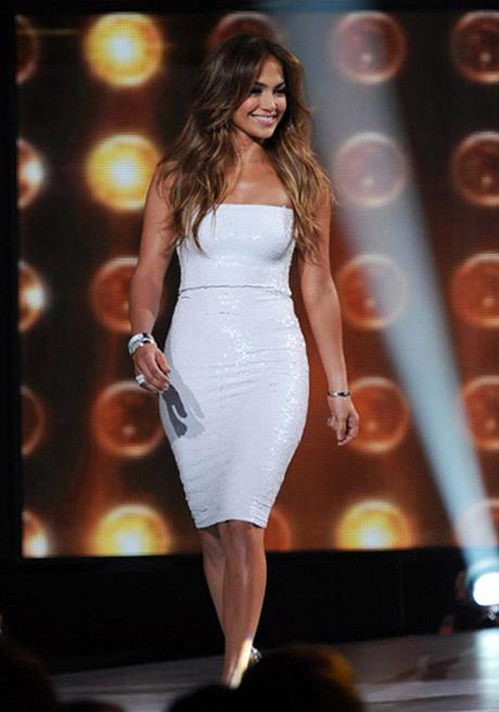 Jennifer Lopez on American Idol on February 28, 2012