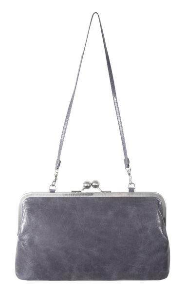 MARLENE VOLKER LANG Clutch nostalgischer Bügelverschluss clipbag leather