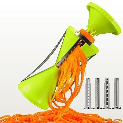 Cortador de legumes espiral com 4 lâminas Spiro Veggie II - Prana