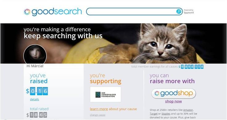 http://www.goodsearch.com/: Httpwwwgoodsearchcom
