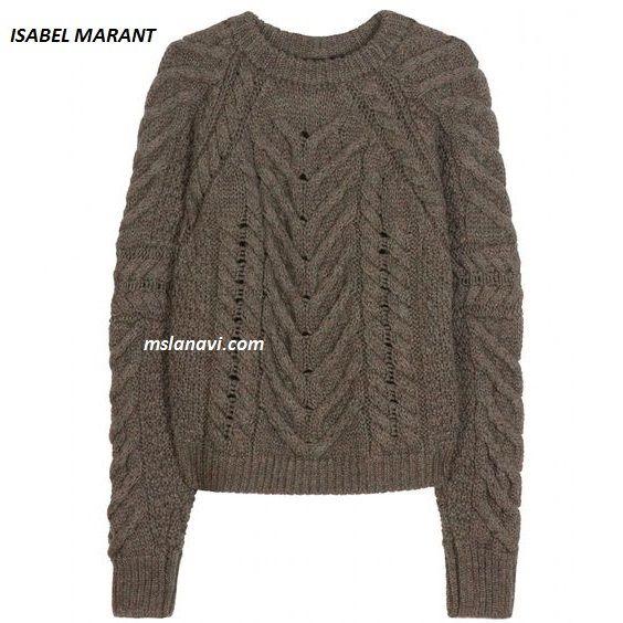 Вязаный свитер спицами от ISABEL MARANT http://mslanavi.com/2016/08/vyazanyj-sviter-spicami-ot-isabel-marant/