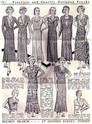 Practical and smartly dressed from from 1932-33. #vintage #1930s #fashion #illustrations