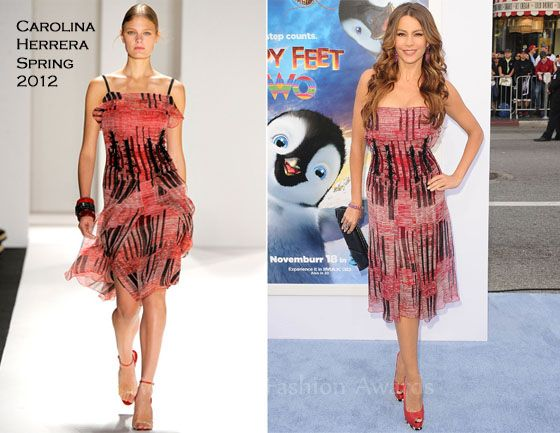 Sofia Vergara In Carolina Herrera – 'Happy Feet Two' LA Premiere