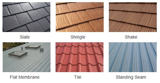 13 best images about metal roofing on pinterest copper for Roof material types pictures