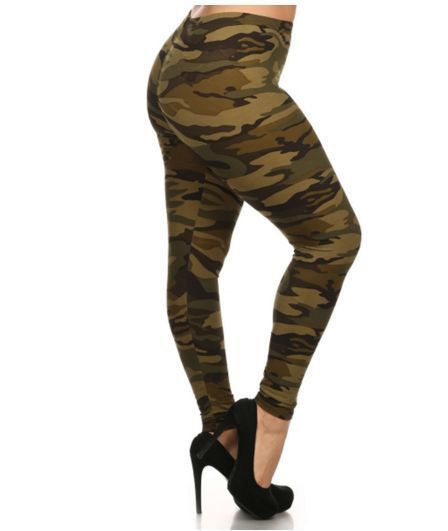 Plus size Camouflage, Military,  leggings, pants stretch from 1X to 3X, New #FancyUSA