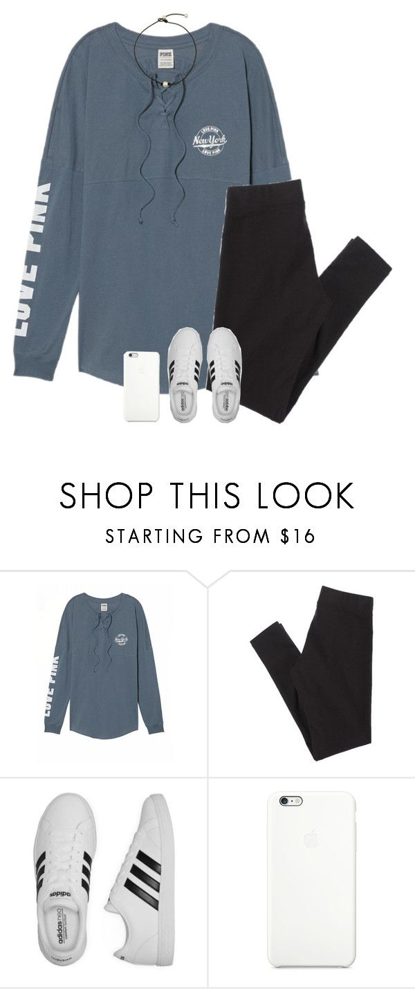 """basic... :( I'm sorry guys I'm so busy"" by cjstefan ❤ liked on Polyvore featuring Victoria's Secret, American Eagle Outfitters and adidas"
