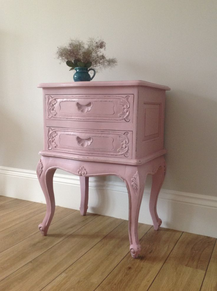 Unique drawer unit painted in Farrow and Ball Cinder Rose