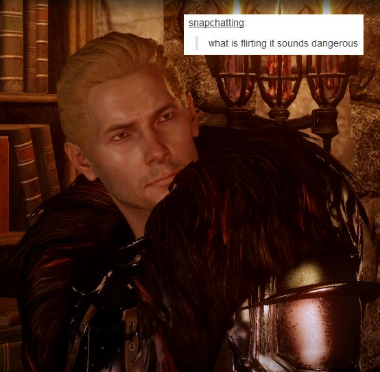 inquisition cullen flirt Characters of dragon age: inquisition from left to right: cullen, vivienne, varric, cole, solas cullen is a templar, appearing in both origins and ii.