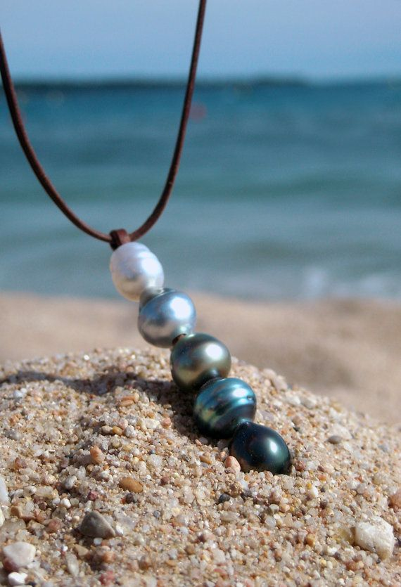 Tahitian pearls white australian pearl woman by PerlaMundi on Etsy, €245.00