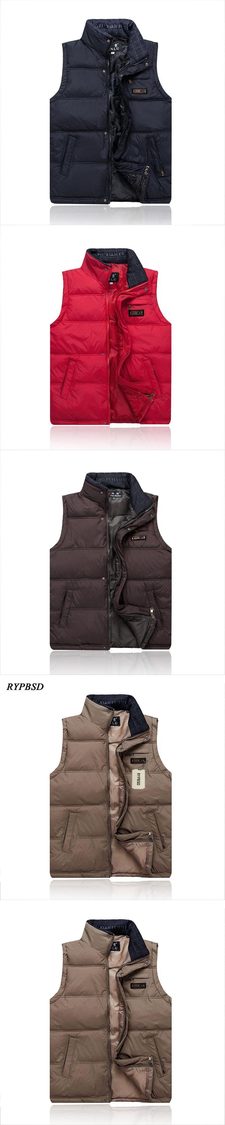 SXXXXL Autumn and Winter New Leisure Men's Down Jacket Vest Stand Collar Waistcoat Sleeveless Vest Men Cotton Mens Outdoors Vest