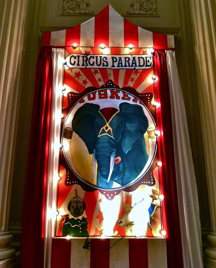 Hand painted Circus stage design for JDRF